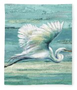Great Egret I Fleece Blanket