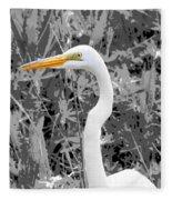 Great Egret Poster Fleece Blanket