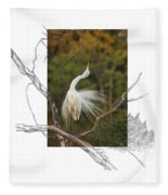 Great Egret - Stretch Fleece Blanket