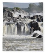Great Falls Of The Potomac River Fleece Blanket