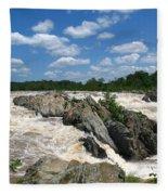 Great Falls On The Potomac Fleece Blanket