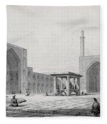 Great Friday Mosque In Isfahan Fleece Blanket