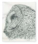 Great Grey Owl Fleece Blanket