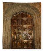 Great Hall Entrance Door Fleece Blanket