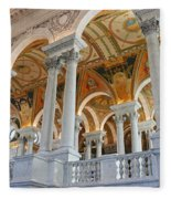 Great Hall Of The Library Of Congress  Fleece Blanket