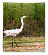 Great Heron Fleece Blanket