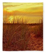 Great Lake Great Sunset 2 Fleece Blanket