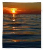 Great Lake Sunset Fleece Blanket