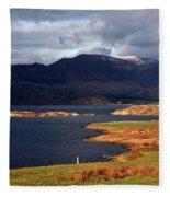 Lakes Of Ireland, Waterville, County Kerry Fleece Blanket