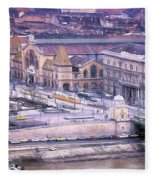 Great Market Hall Budapest Fleece Blanket