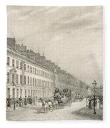 Great Pultney Street, Bath, C.1883 Fleece Blanket