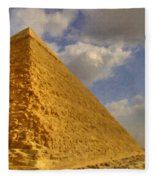 Great Pyramid Painting Fleece Blanket
