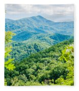 Great Smoky Mountains National Park Near Gatlinburg Tennessee. Fleece Blanket