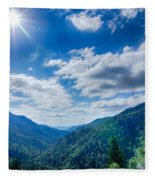 Great Smoky Mountains National Park On North Carolina Tennessee  Fleece Blanket