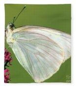Great Southern White Butterfly Fleece Blanket
