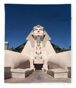 Great Sphinx Of Giza Luxor Resort Las Vegas Fleece Blanket