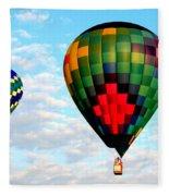 Great Texas Balloon Races Fleece Blanket