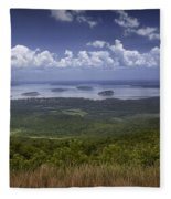 Great View On Top Of Cadilac Mountain Fleece Blanket