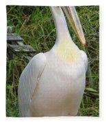 Great White Pelican Fleece Blanket