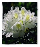 Great White Rhododendron Fleece Blanket