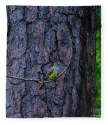Greater Crested Flycatcher Fleece Blanket