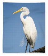 Greater White Egret Fleece Blanket