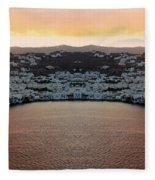 Greece Double Vision #154 Fleece Blanket