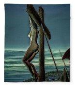 Greek Crucifixion Scene II Fleece Blanket