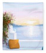 Greek House Fleece Blanket