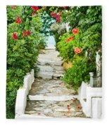 Greek Steps Fleece Blanket