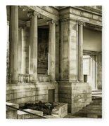 Greek Theatre 7 Golden Age Fleece Blanket