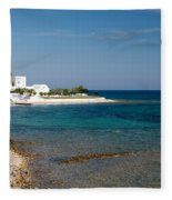 Villa By The Sea Fleece Blanket