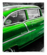 Green 1957 Chevy Fleece Blanket