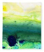 Green Abstract Art - Life Song - By Sharon Cummings Fleece Blanket