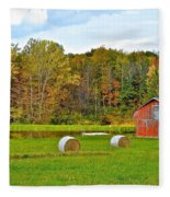 Green Acres Fleece Blanket