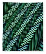 Green And Blue Folds Fleece Blanket