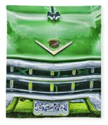 Green And Chrome-hdr Fleece Blanket