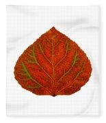 Green And Red Aspen Leaf 3 Fleece Blanket