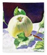 Green Apple Fleece Blanket