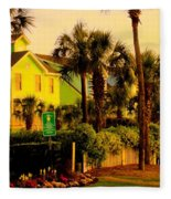 Green Beauty At Isle Of Palms Fleece Blanket