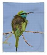 Green Bee-eater Merops Orientalis Fleece Blanket