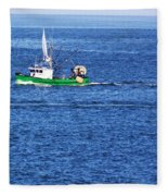 Green Boat Fleece Blanket
