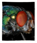 Green Bottle Fly Fleece Blanket