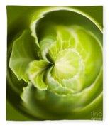 Green Cabbage Orb Fleece Blanket