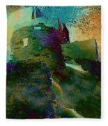 Green Castle Fleece Blanket