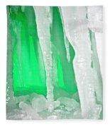 Green Cave Fleece Blanket