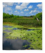 Green Cay Nature Preserve Beauty Fleece Blanket