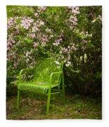 Green Chair Fleece Blanket