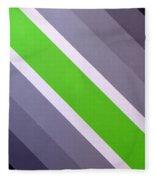 Green Chevron Fleece Blanket