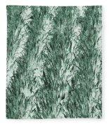 Green Cornfield Fleece Blanket